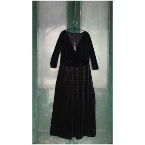 Monty Q Long Velvet Dress